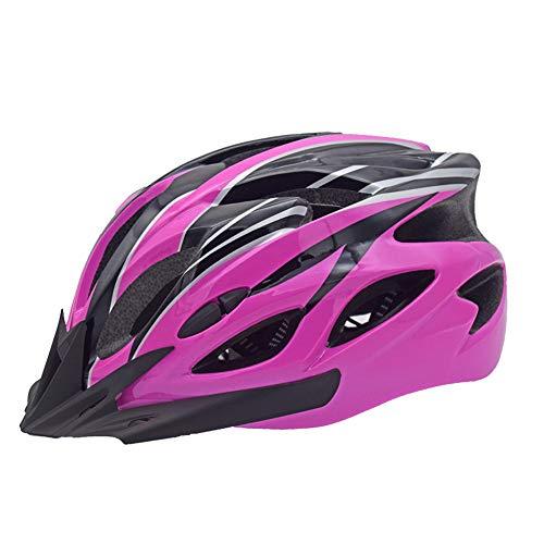 LightweightAllround Cycling Helmets, Adjustable Mountain & Road Bike Helmetsfor Adults, 18 Vents with Adjustable StrapFits Head Sizes 57-63cm Black & Purple