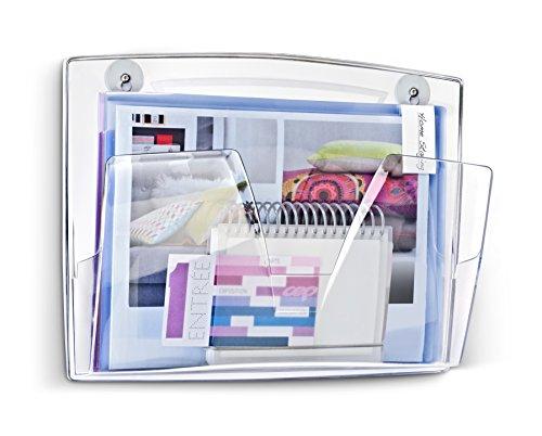 CEP Portadocumenti magnetico da parete per reception, colore: trasparente