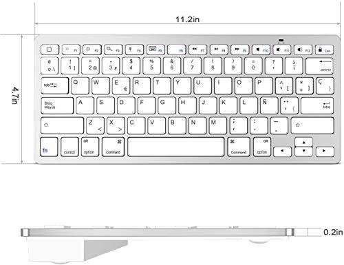 OMOTON Teclado Bluetooth Español Compatible