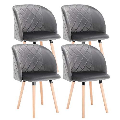 EUGAD Set de 4 Sillas Comedor Vintage Diseño Sillas Nórdicas Moderna...