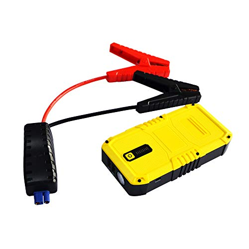 MAXTOOLS JSL240, Professioneller tragbarer Notstarter 500A 9000mAh, Lithium Power Bank Ladegerät, LED-Taschenlampe, Tür und Micro-USB-Kabel Smartphone, Autobatterie-Starthilfe-Pack, Booster