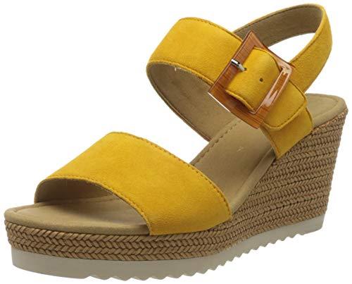 Gabor Shoes Damen Basic Riemchensandalen, Gelb (Mango 13), 38.5 EU