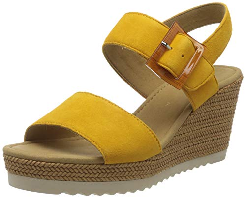 Gabor Shoes Damen Basic Riemchensandalen, Gelb (Mango 13), 40 EU