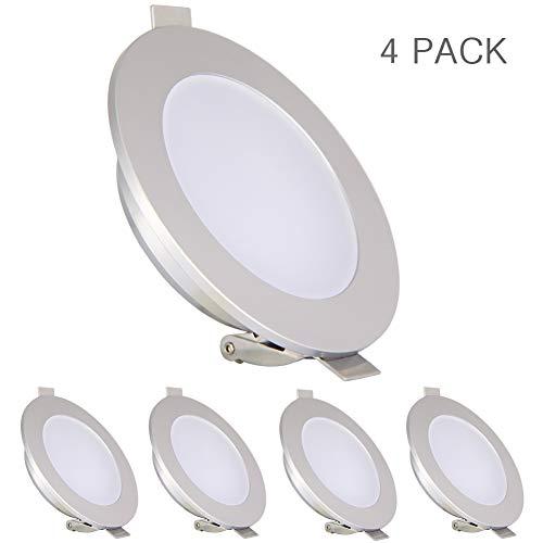 acegoo 4 focos LED empotrables de 12 V, iluminación para caravanas, barcos, autocaravanas, camiones, yates, iluminación...