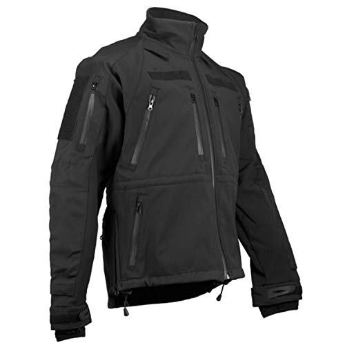 Copytec Tactical Kommando Softshell Jacke KSK Spezialkräfte Security Dienstjacke #14084, Größe:XL, Farbe:Schwarz