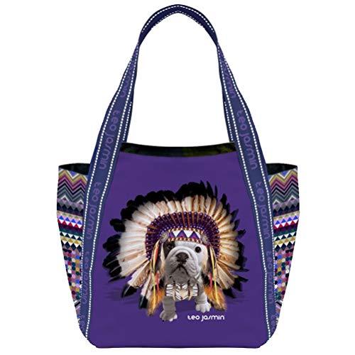 Téo Jasmin Grand Cabas violet Apache