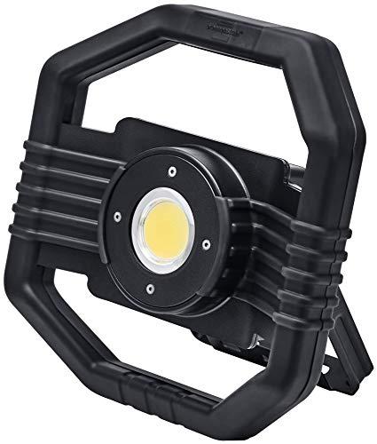 Brennenstuhl Mobiler Hybrid LED Arbeitsstrahler DARGO/LED Baustrahler für außen (LED Arbeitsleuchte 50W mit wahlweise Akku- oder Netzbetrieb, automatische Umschalt-Funktion, IP65, inkl. Powerbank)
