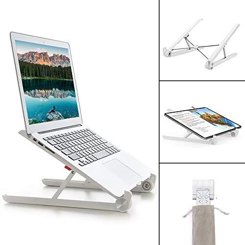 G-Color Supporto per PC Portatile Angolazione Regolabile Pieghevole Supporto da 11-17 Pollici per Computer Portatile/Notebook/MacBook PRO/MacBook Air/iPad Laptop Stand-Bianco