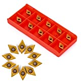 Herramienta CNC, 10Pcs DCMT070204 YBC251 Inserciones de carburo, 7 x 7 x 2 mm for Torno de inflexión herramienta de perforar la barra de corte Cuchillas Herramientas de torneado