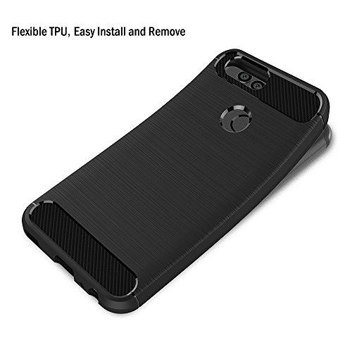 AICEK Huawei Nova 2 Hülle, Schwarz Silikon Handyhülle für Huawei Nova 2 Schutzhülle Karbon Optik Soft Case (5,0 Zoll) - 3