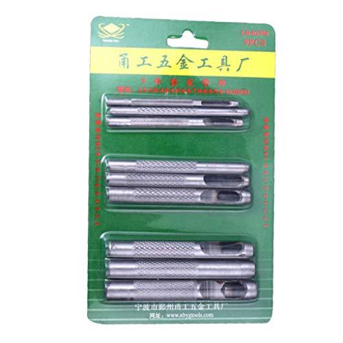 Harilla 9 piezas herramienta de cuero hueca Junta banda reloj Correa perforadora