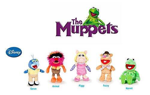 The Muppets (Die Muppets) - Pack 5 plüsch Qualität super soft - Kermit der Frosch 22cm + Miss Piggy 20cm + Gonzo 19cm+ Fozzie Bär 21cm + Animal 20cm