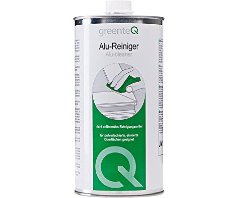 greenteQ Alu-Reiniger 1 Liter Aluminium Reiniger Fenster Türen Aluminiumreiniger