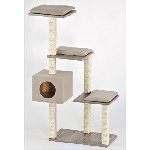 Silvio Design Katzen-Stufenboy Cosy mit Sanremodekor, sandfarbene Kissen, ca. 36x80x126 cm
