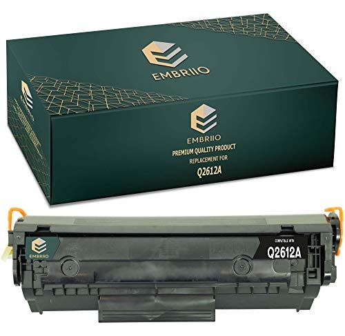 EMBRIIO Q2612A 12A Cartucho Tóner Reemplazo para HP Laserjet 1010 1012 1015 1018 1020 1022 1022n 1022nw 3010 3015 3020 3030 3050 3052 3055 M1005 MFP M1319f MFP