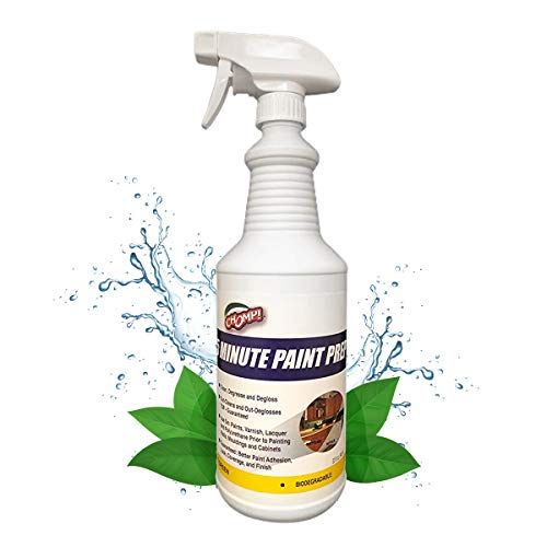 CHOMP Prep Cleaner Deglosser: Healthier Home 5 Minute Wall and Ceiling, Baseboards, Cabinets Painting Preparation Trim, Spray Gloss, Dirt, Grime, Grease Remover 32 Ounces, 32 oz