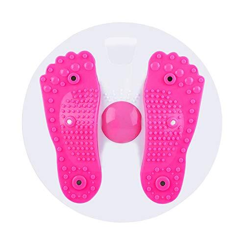 YYST Twist Board Twist Waist,Disco Twist per Gli Esercizi di Torsione di Vita e Fianchi,Disco Consiglio Esercizio aerobico per Il Fitness e L'allenamento(Rosa)