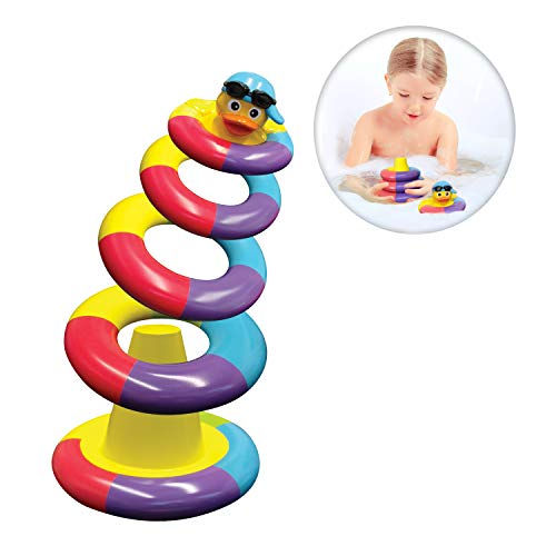 Playahoy Floating Bath Toys For Boys and Girls - Float and Play Stacking Rings For Baby Toddlers and Kids