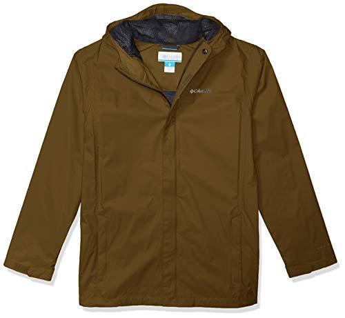 Columbia Boys' Big Watertight Jacket, Waterproof & Breathable, New Olive, Large