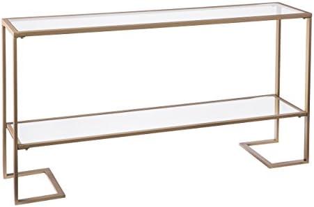 Best Metal Skinny Console Table - Slim Profile w/Mirror Top (52x29)
