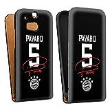 DeinDesign Tasche kompatibel mit HTC One M8 Flip Case Hülle FC Bayern München Pavard #5 Trikot