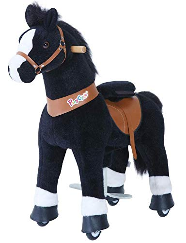 Ride-On Black Horse with White Hoof - Small - Pony Cycle U326