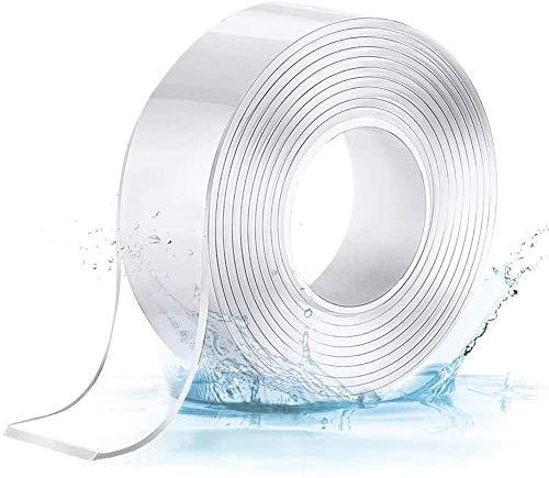 DASFOND Doppelseitiges Klebeband,3M Multifunktionales Transparent Nano Tape,Waschbares Spurloses Klebeand,wiederverwenbar Klebeband für Teppich Fotorahmen Küche - Rückstandsfrei