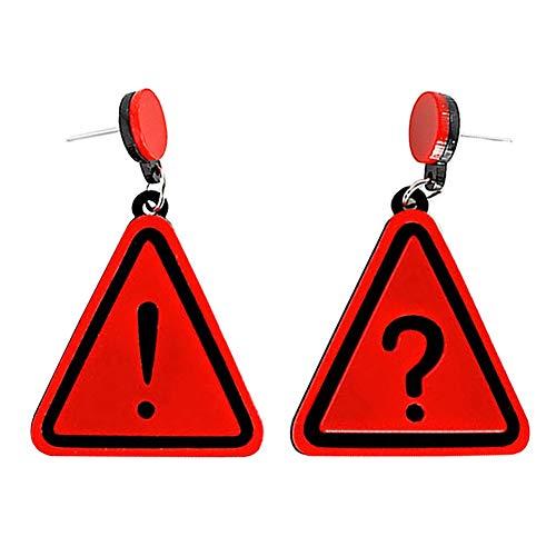 Dreieckige Ohrringe für Damen 3 Farben Dreieckige Acryl Fragepunkt Exklusive Ohrringe Dreieck