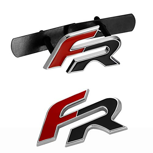 NMDNNJ 2pcs Car 3d Metal Front Grille Hood Sticker Badge Car Styling For Seat Leon Fr+ Cupra Ibiza Altea Exeo Formula Racing
