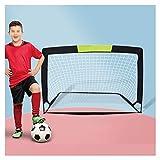 Porterías de fútbol HUA Portería De Fútbol Para Deportes Al Aire Libre Para Niños Y Adultos, Con Red Emergente, Utilizada Para El Entrenamiento De Partidos De Fútbol En El Patio Trasero, Viene Con Una