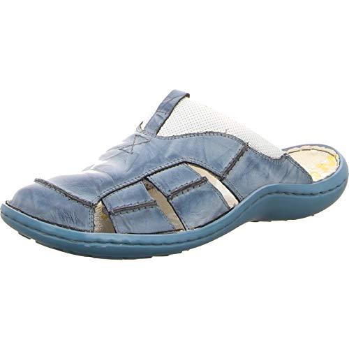 KRISBUT Herren Offene Clog aus Leder 1075-9 blau 461747
