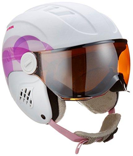 ALPINA Kinder Carat L.E. Visor HM Skihelm, White-Pink Clouds Matt, 51-55 cm