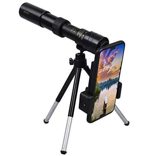 LUCKYYL 4K 10-300X40mm Super Teleobjetivo Zoom Telescopio monocular Portátil Lleno de nitrógeno a Prueba de Agua (Telescopio)