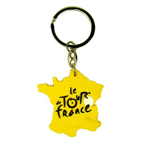 Porte-Clés 'Carte' Tour de France - Jaune