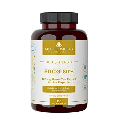 EGCG 80{ae8636807be1efba95353fc1cf5b79826d211ec7eb5cb8ad4830125c3a8e3d21} (Grüntee-Extrakt) 400mg, 100 vegane Kapseln