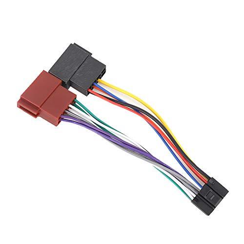 Qiilu Adaptador de Conector de arnés, Adaptador de Conector de arnés Hembra de Bus ISO de 16 Pines para Kenwood NC