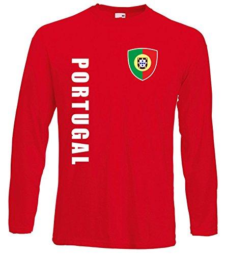 aprom Portugal Langarm T-Shirt Trikot LS-Spa Rot Longsleeve (M)