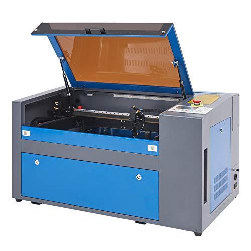 Z ZELUS 50W Máquina de Grabado 300 x 500 mm Láser Máquina de Grabador Láser de CO2 Máquina de Corte Láser LCD Digital Puerto USB, Bomba de Aire (50W)