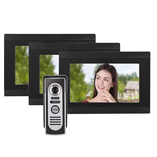 Timbre con video Timbre con videoportero Wifi con cable, Soporte 1V3 para IOS/para teléfonos móviles con(European regulations)