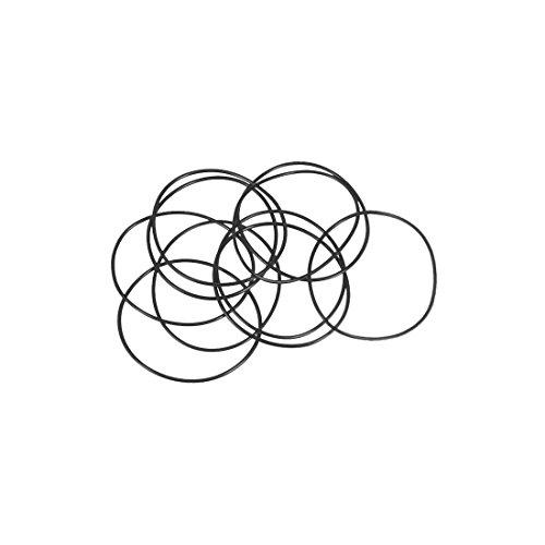 sourcing map 10pcs O-Ringe Nitrilkautschuk Gummi 38mm x 40mm x 1mm Dichtungsringe Dichtung DE de