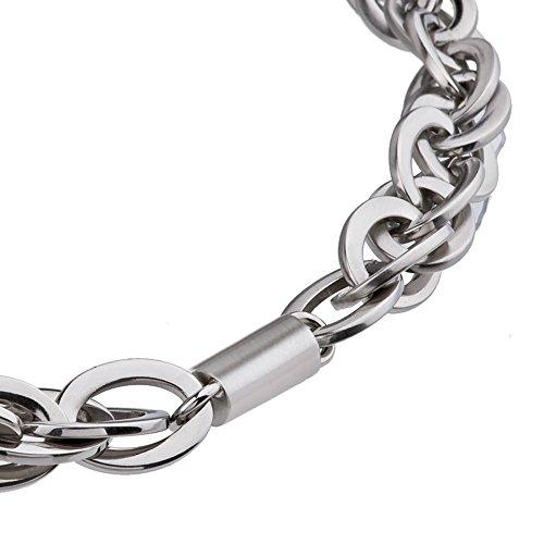 Serio Design EDvita ELIPS catena collana Collier K138Acciaio Inox 40fino a 45cm
