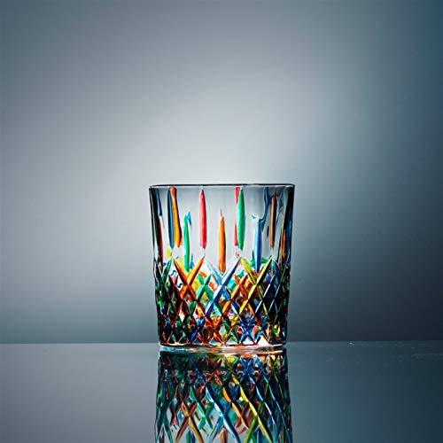 WAWAYU Whiskyglas, Bleifreies Kristallglas Heim Handgemachte kreative Dekoration-Wasser-Glas Foreign Weinglas Whisky-Glas (Size : B)