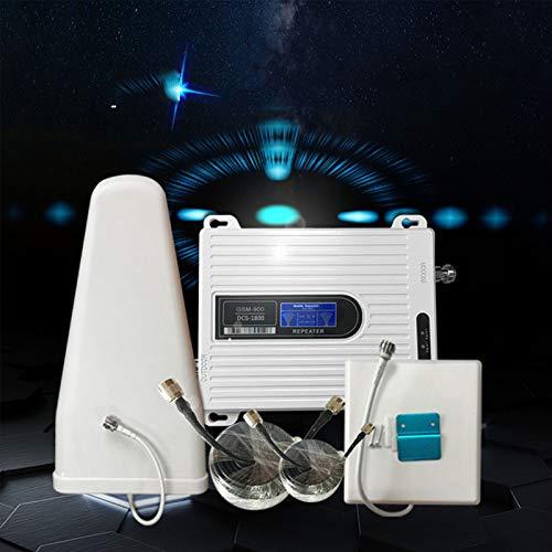 YAMEIJIA Amplificador de Señal Móvil gsm 900 MHz LTE 1800 MHz de Doble Banda Kit ripetitore intelligente LTE Universal Signal Booster para Casa/Oficina
