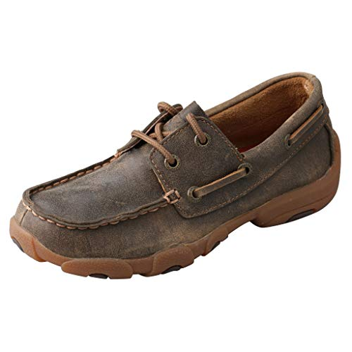 Twisted X Kids Boat Shoe Driving Moc, Bomber, 5 M