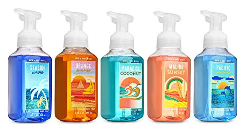 Bath and Body Works Tropical Summer Soap - Set of 5 Gentle Foaming Island Hand Soaps