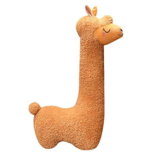 LINWEI Lindo Sillín De Peluche De Alpaca Juguetes De Peluche Suave Alpacasso Muñecas Lindas Animal De Peluche De Juguete para Decoración del Hogar Regalos De Cumpleaños Nuevo