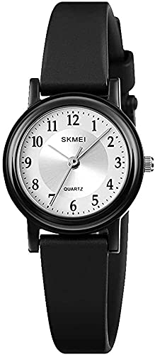 QHG Reloj a Prueba de Agua de Las Mujeres, Reloj de Pulsera para Lady Girls Vestido Casual Relojes analógicos de Cuarzo para Mujeres (Color : M)