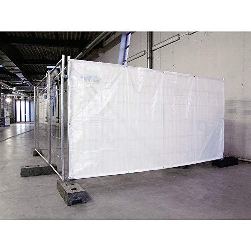 Opaco foglio per recinzione di sicurezza mobile, Hxw 2000x 3500mm, bianco.