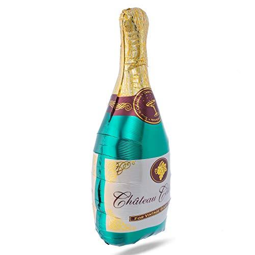 XXL Folienballon Champagner-Flasche Heliumballon 110x45cm Luftballon Helium-Ballon Sylvester-Deko Party-Dekoration