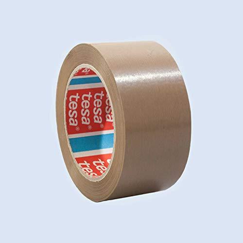TESA Klebeband tesapack 4124, TOP-PVC, 50mm x 66m, braun/Unser Bestes - PVC-Klebeband für höchste Ansprüche, 12 Stück